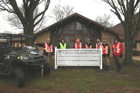 disaster response volunteers at watseka illinois church